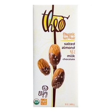 Theo Organic & Fair Trade Salted Almond Milk Chocolate
