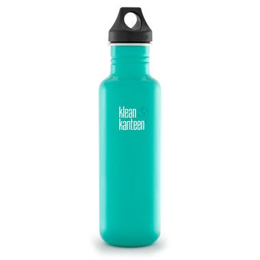 Klean Kanteen Classic Water Bottle with Loop Cap Tidal Pool