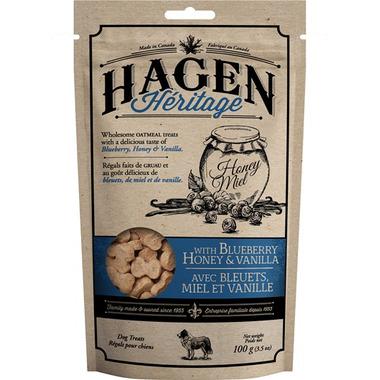 Hagen Heritage Oatmeal Dog Treats Blueberry Honey and Vanilla
