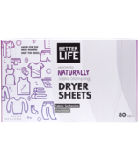 Better Life Dryer Sheets Unscented