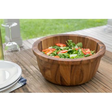 Ironwood Gourmet Salad Bowl with Lip