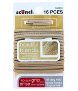 Scunci No-Slip Grip Hair Elastics Beautiful Blends