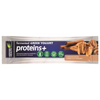Genuine Health fermented GREEK YOGURT proteins+ Bar Cinnamon Pecan