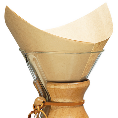 Chemex Bonded Filters Pre-folded Squares Natural