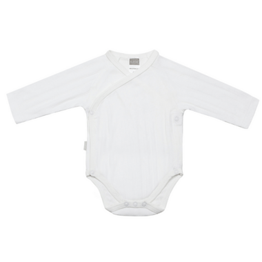 Kushies Side Wrap Long Sleeve Bodysuit White
