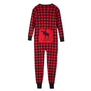 Hatley Red Buffalo Plaid Unisex Adult Union Suit