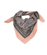 FITS Pink Paisley Satin Neck Scarf