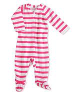 aden + anais Long Sleeve Zipper One-Piece Shocking Pink Blazer Stripe