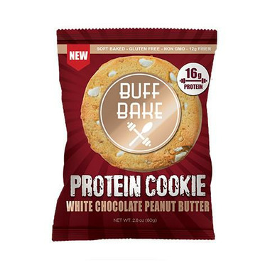 Buff Bake Protein Cookie White Chocolate Peanut Butter Gluten Free
