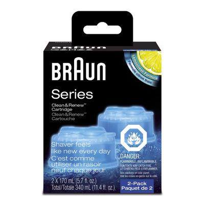 buy braun clean renew cartridge shaver refills 2 x 170ml. Black Bedroom Furniture Sets. Home Design Ideas