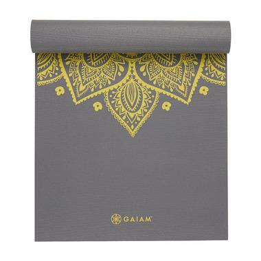 Gaiam Printed Premium Yoga Mat 6 mm Citron Sundial