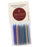 Honey Candles Pure Beeswax Birthday Candles Coloured