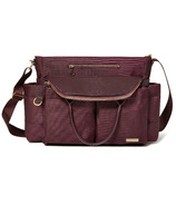 Skip Hop Chelsea Downtown Chic Diaper Satchel Wine
