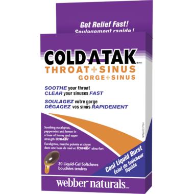 Webber Naturals Cold A-Tak Throat + Sinus Echinilin