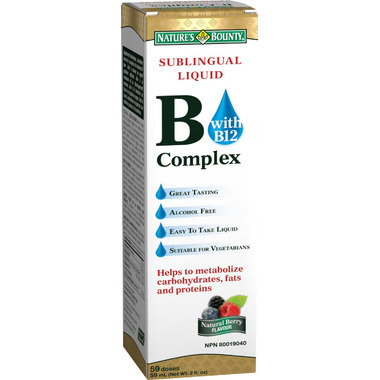 Nature\'s Bounty Sublingual Liquid B-Complex with B-12