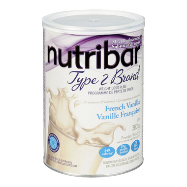 Nutribar Type 2 Brand French Vanilla Shake Powder