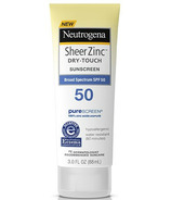 Neutrogena Sheer Zinc Suncreen Lotion Broad Spectrum SPF 50