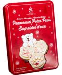 Saxon Chocolates Peppermint Bark Polar Bear Paws Tin