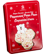 Saxon Chocolates Peppermint Bark Polar Bear Paws Tin