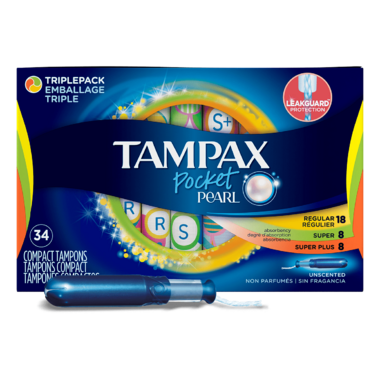 Tampax Pocket Pearl Triplepack Unscented Tampons