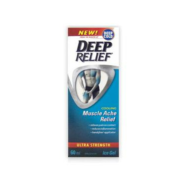 Deep Relief Cooling Muscle Ache Relief Ultra Strength Ice Gel