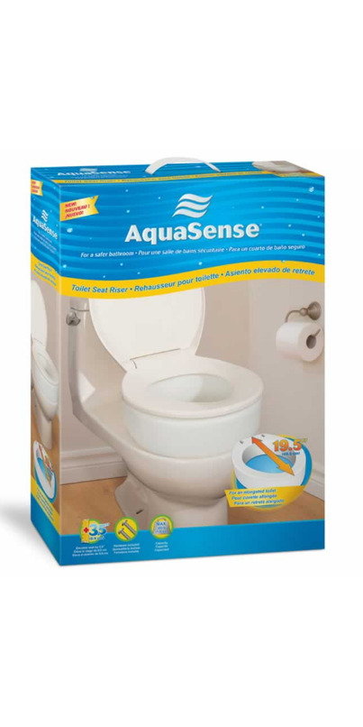 Buy Aquasense Toilet Seat Riser At Well Ca Free Shipping