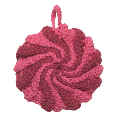 Now Designs Dishcloth Tawashi Scrubbers Set Spiral Raspberry
