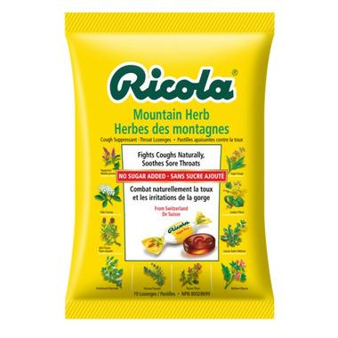 Ricola No Sugar Added Mountain Herb Cough Suppressant