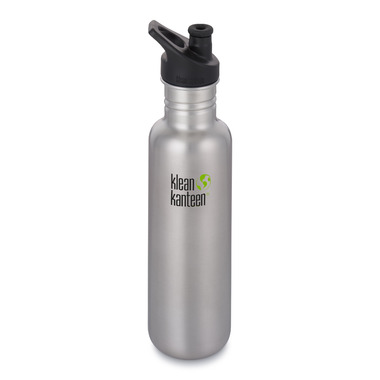 Klean Kanteen Classic Bottle with Sport Cap 3.0 Brushed Stainless