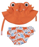 Zoocchini Swim Diaper & Sun Hat Set Crab