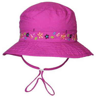 Calikids Mesh Lined Bucket Hat With Floral Details Vivid Orchid