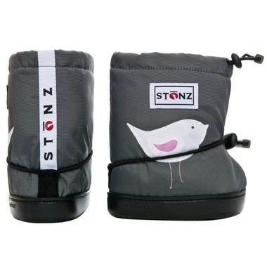 Stonz Grey Bird Toddler Booties
