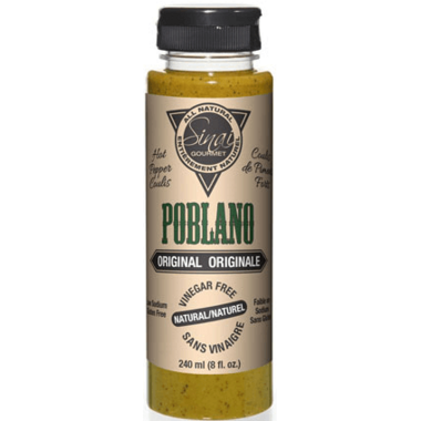 Sinai Gourmet Poblano Maple Hot Pepper Coulis