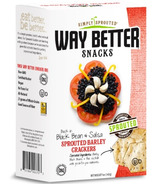 Way Better Snacks Black Bean & Salsa Sprouted Barley Crackers