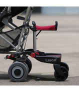 Lascal Maxi + Buggyboard Black with Red Saddle