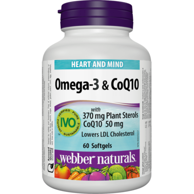 Webber Naturals Omega-3 & CoQ10 with Plant Sterols