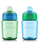 Philips AVENT 9oz My Easy Sippy Cup Classic Spout Blues and Greens
