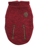Canada Pooch Northern Knit Sweater in Maroon Size 10