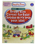 Healthy Times Organic Brown Rice Cereal For Baby