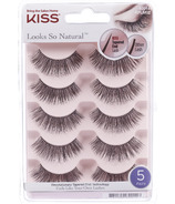 Kiss Look So Natural Fake Eyelashes Multipack Poise