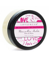 Lovefresh All-Natural Cream Deodorant Pot Moroccan Rose