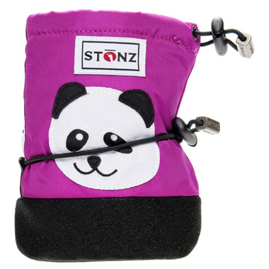 Stonz Purple Panda Infant Booties