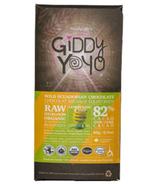 Giddy Yoyo Organic Raw Lemon Lime 82% Dark Chocolate Bar
