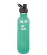Klean Kanteen Classic Water Bottle with Sport Cap Tidal Pool