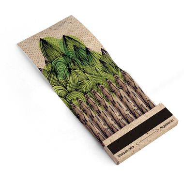 Kikkerland Tree Friendly Recycled Pencils