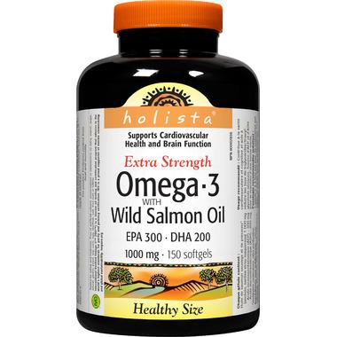 Holista Omega-3 with Wild Salmon Oil EPA 300 DHA 200 1000 mg