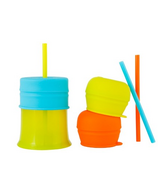 Boon Snug Straw With Cup Orange Multi