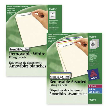 Avery Removable File Labels