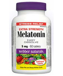 Webber Naturals Melatonin Easy Dissolve Tablets