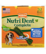 Nutri Dent Complete Dental Chews Chicken Medium Size 32 Pack